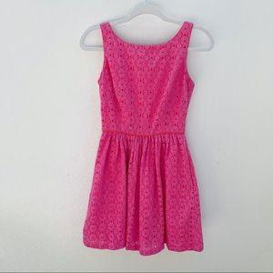 Lilly Pulitzer Hotty Pink Aleesa dress eyelet lace